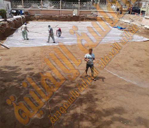رش-النمل-الابيض-قبل-البناء